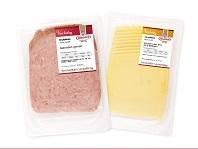 Handige 10-plaksverpakking vleeswaren en kaas