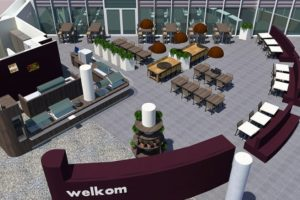 Bezoekersrestaurant verhuist naar de centrale hal