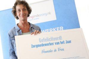 Henrieke de Vries is Zorgmedewerker van het Jaar 2017