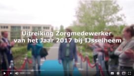 Uitreiking Zorgmedewerker van het Jaar 2017 op video